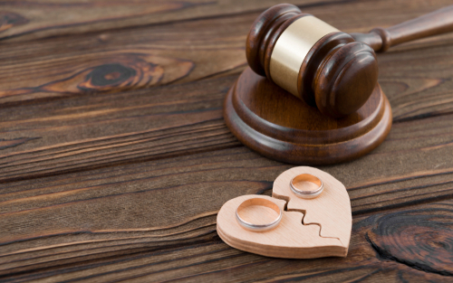 two broken hearts in divorce case