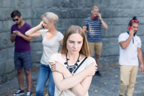 woman with social anxiety disorder