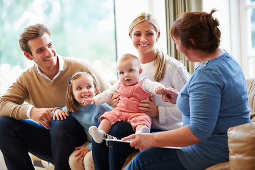 a family in family counseling